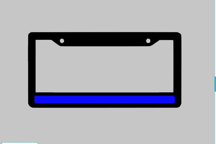 Thin blue Line License Plate Frame United We Stand support police ...