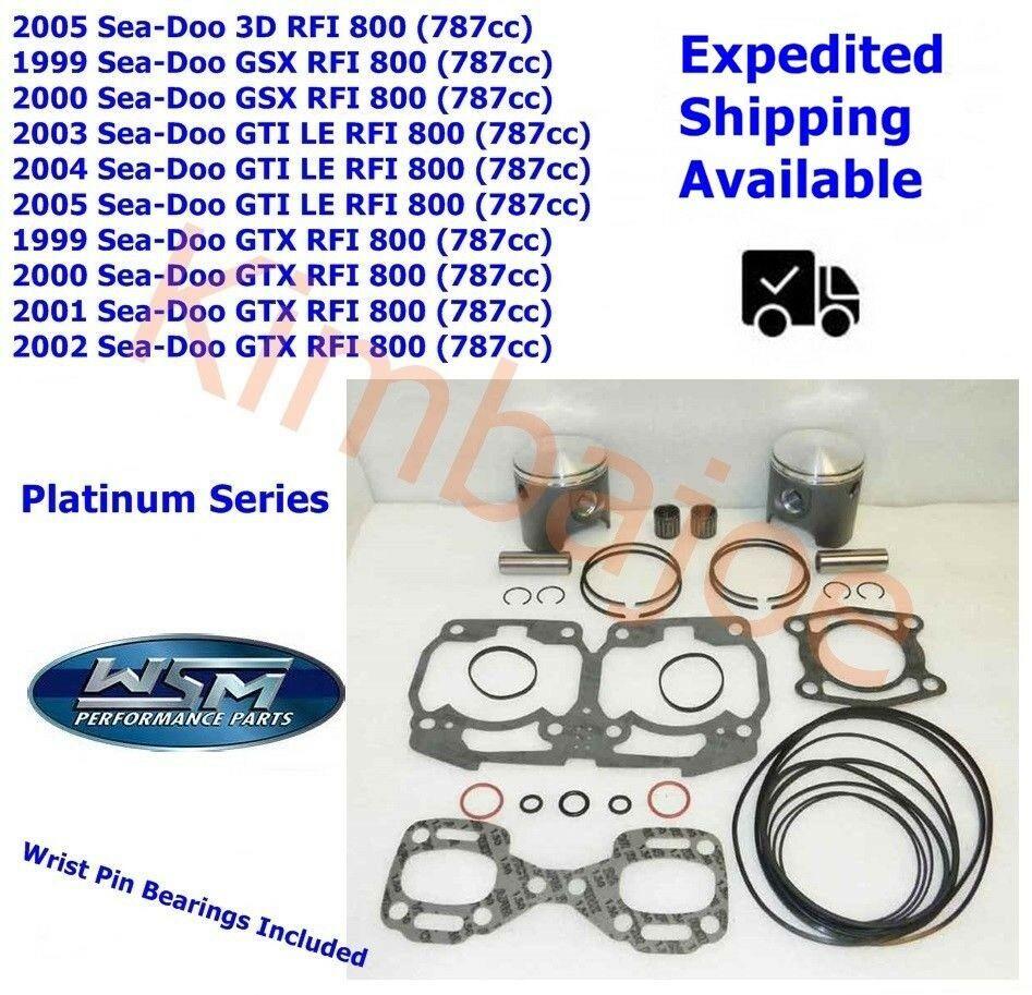 Sea Doo 787cc 800 Rfi 82 25 Mm 010 Bore Wsm Platinum Pistons Bearings Gaskets Seadoo Water Crafts Things To Sell