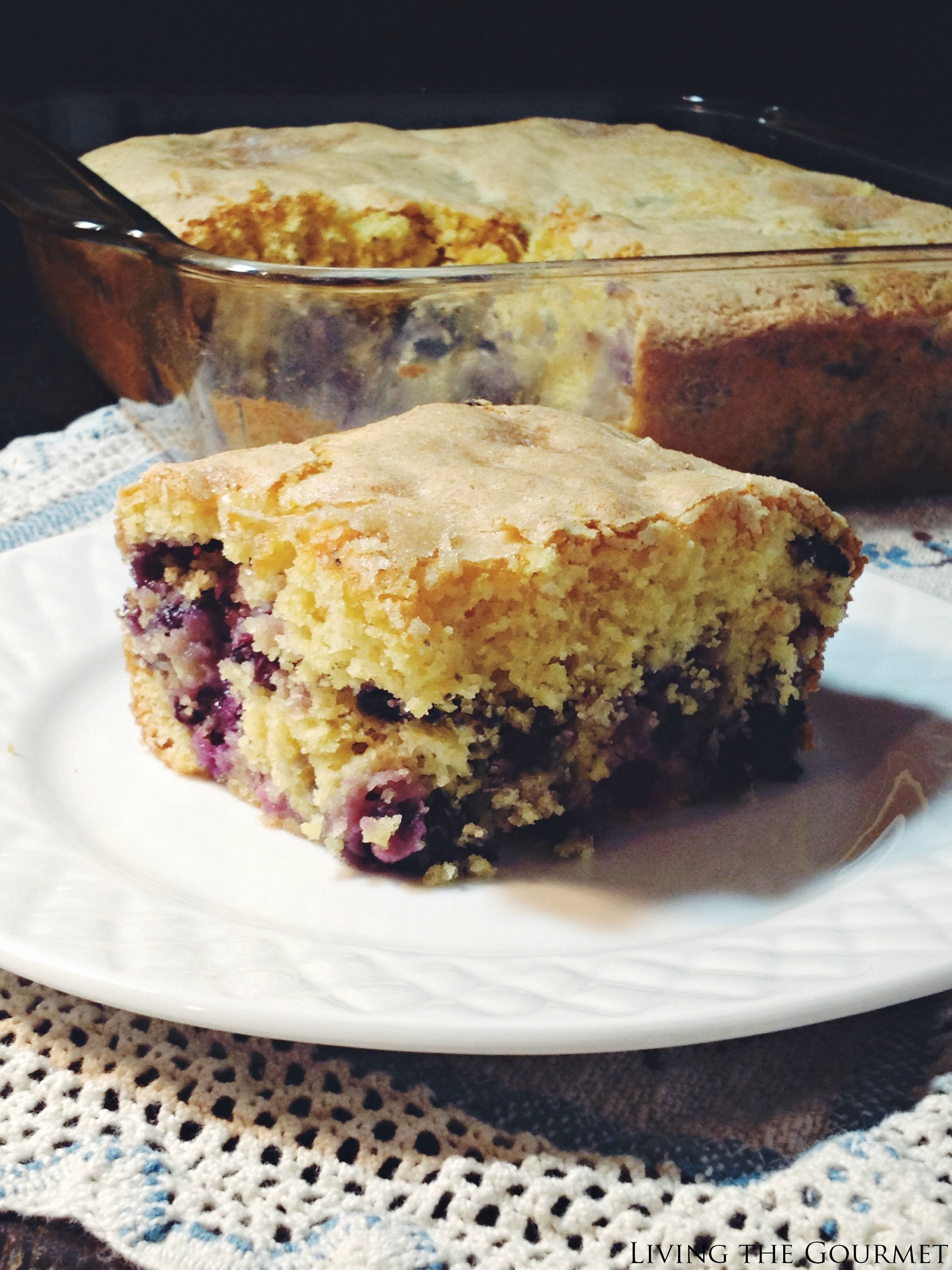 SRC - Buttermilk Blueberry Breakfast Cake - Living The Gourmet