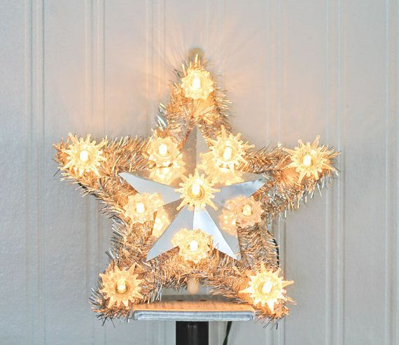 Star Tree Topper Christmas Tree Star Kodak Light Up Tree Etsy Christmas Tree Star Lighted Tree Topper Tree Toppers
