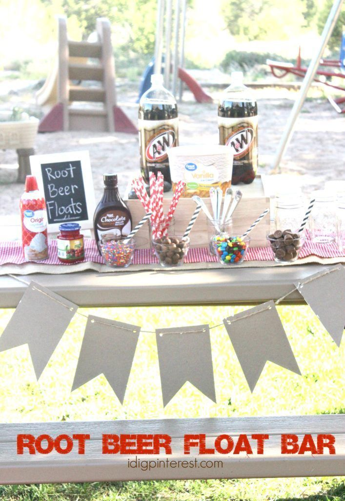 Root Beer Float Bar #rootbeerfloat A&W Root Beer Float Bar. August 6th is National Root Beer Float Day! Create a simple Root Beer Float Bar with A&W Root Beer and then spend the evening outdoors with family enjoying the beautiful summer weather! #NationalRootBeerFloatDay #makeamemory #Walmart #ad #rootbeerfloat Root Beer Float Bar #rootbeerfloat A&W Root Beer Float Bar. August 6th is National Root Beer Float Day! Create a simple Root Beer Float Bar with A&W Root Beer and then spend the evening o #rootbeerfloat