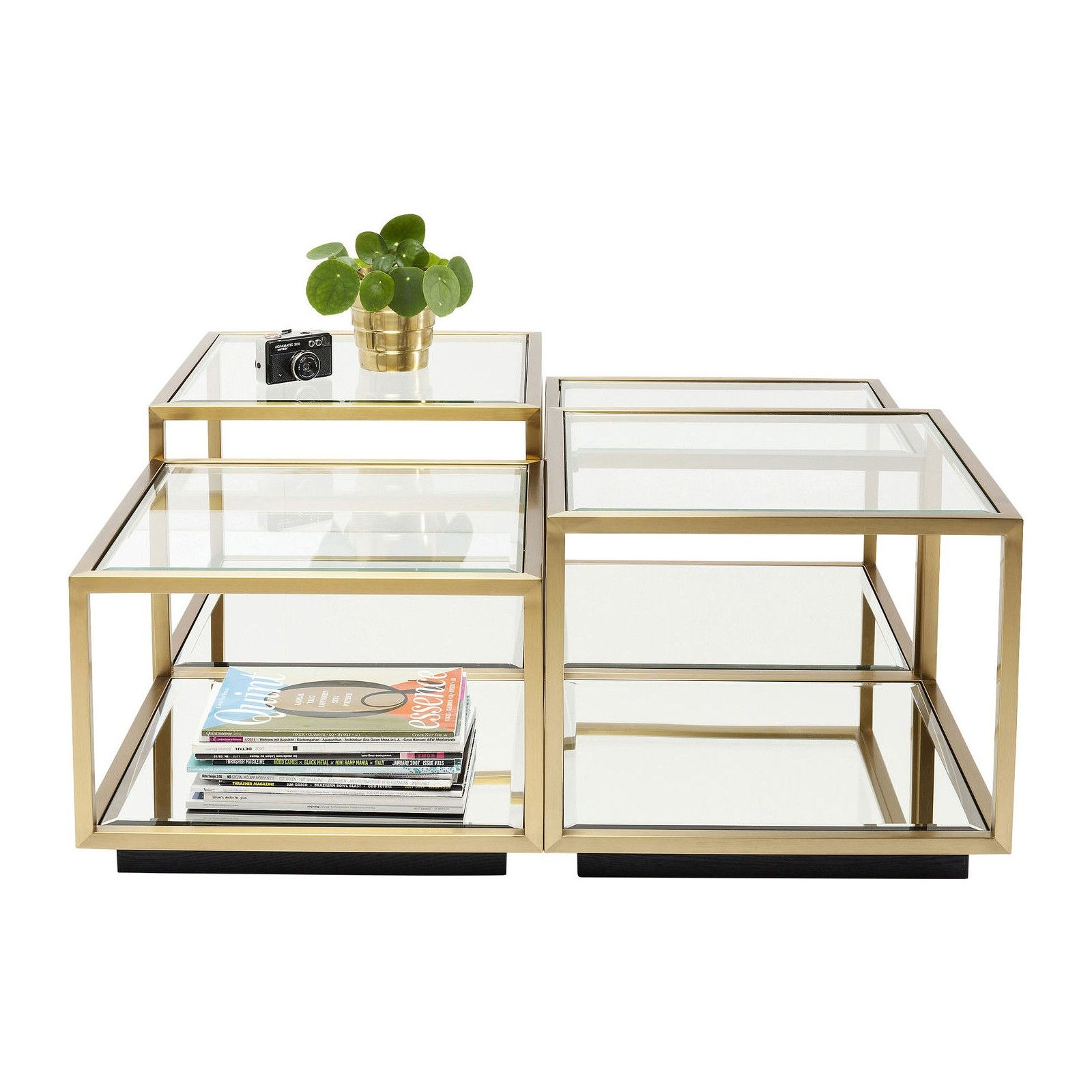 Tables Basses Luigi Set De 4 Kare Design Table Basse Table Basse Moderne Kare Design