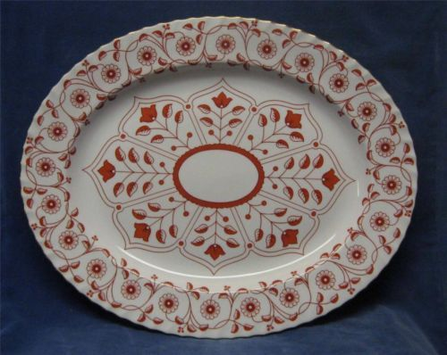 "Rare! Royal Crown Derby Rougemont 17 x 14 "" Oval Serving Platter - Pattern A1107"
