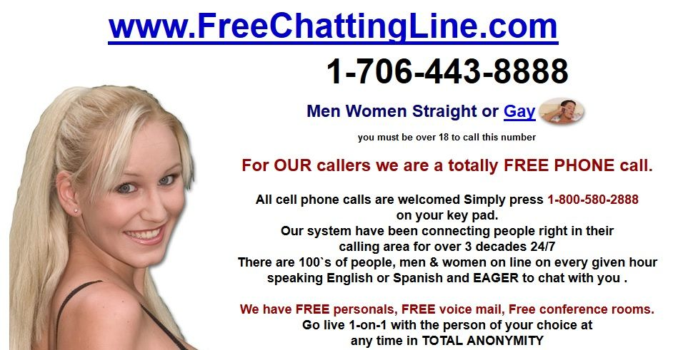 Call on 1-706-443-8888 for Free Party Line Numbers to enjoy