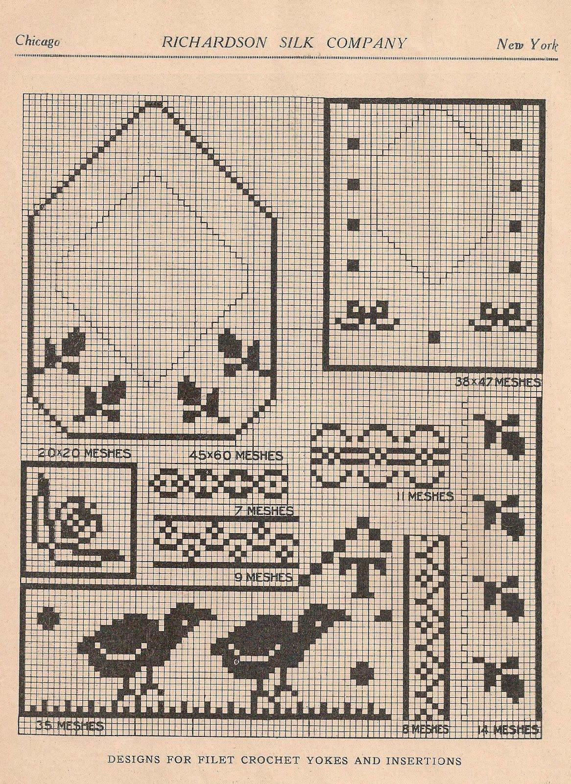 Sentimental baby free cross stitch or filet crochet patterns for