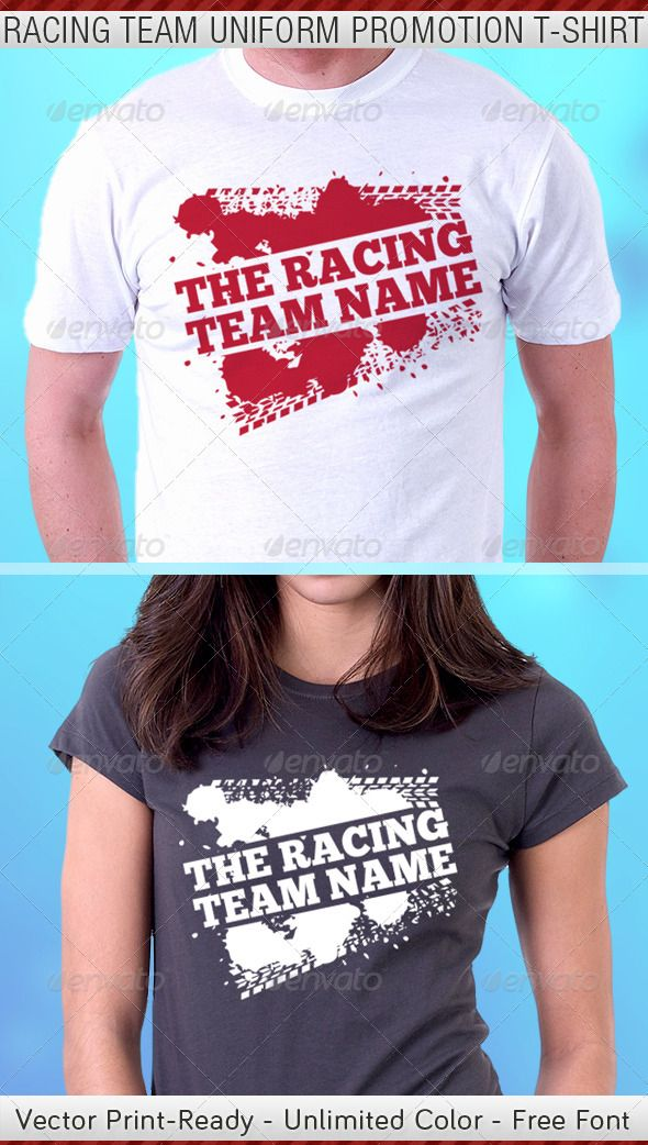 56290f1f Racing Team Promotion T-Shirt Template - DOWNLOAD NOW Shirt Template, Best T  Shirt