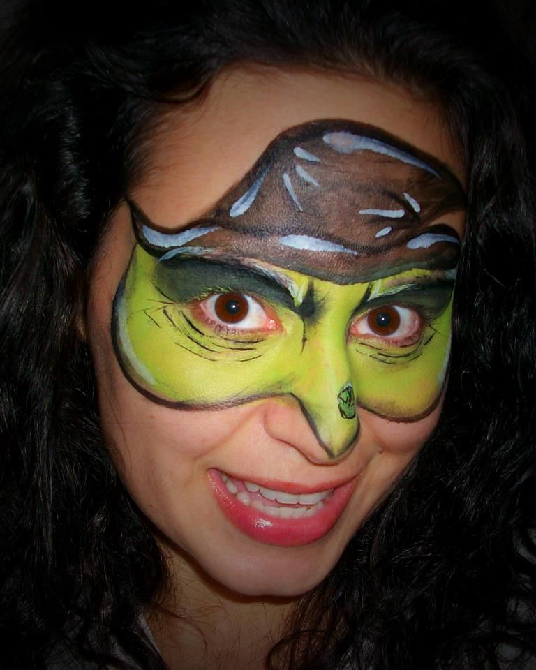Cute Witch Mask Face Paint Ideas Cheek Art Face Witch Face