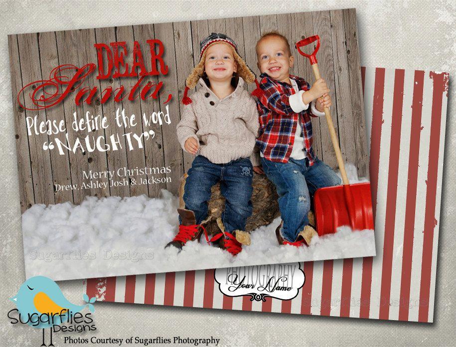 Christmas Card Templates Family Cards Dear Santa 7 00 Via Etsy