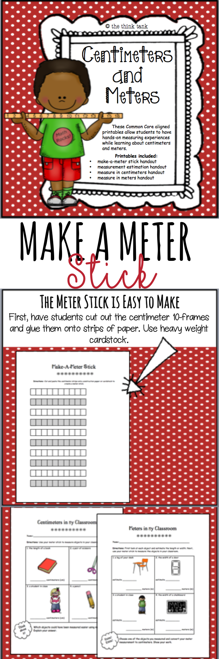 graphic relating to Printable Meter Stick titled Pin upon Best Math Actions