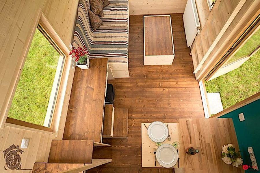 Convertible Roof Tiny House A Thow W A Retractable Ceiling Tiny Houses For Rent Tiny House Tiny House On Wheels
