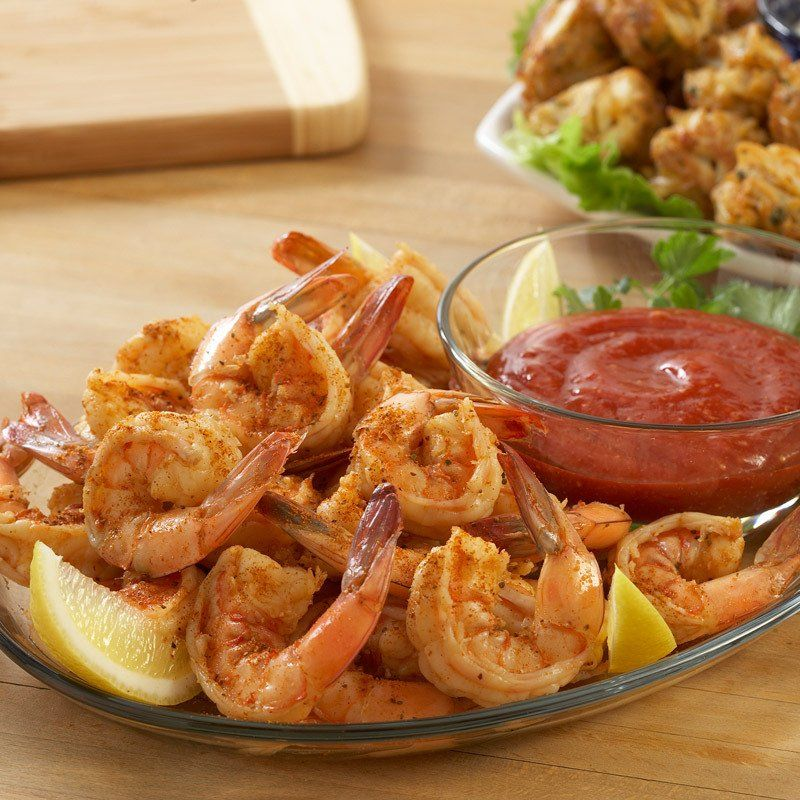 Spiced Shrimp Cocktail is a classic appetizer and is so easy to do with OLD BAY® Seasoning and McCormick® Cocktail Sauce.