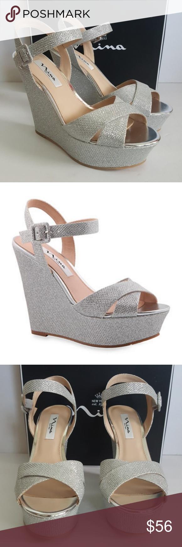 ed996d89d88 New Nina Jinjer Wedge Sandals New.. never worn 5