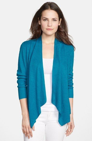 Eileen Fisher Organic Linen Angle Front Cardigan (Regular & Petite) on shopstyle.com