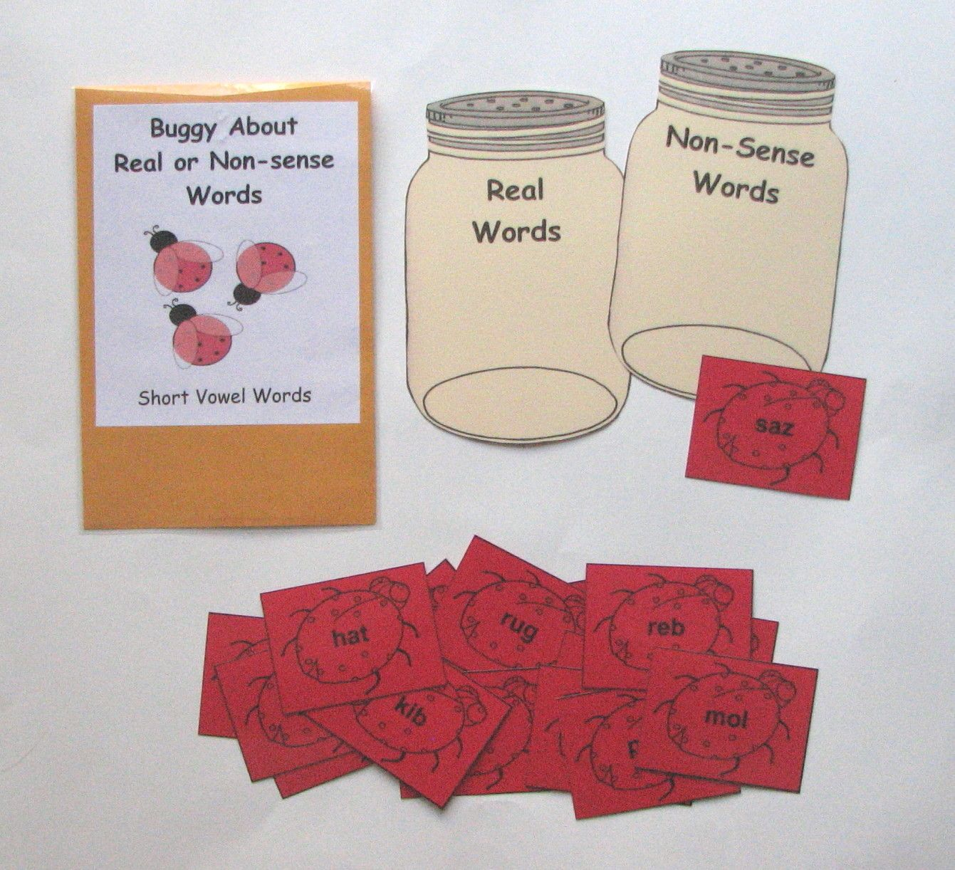 Short Vowel Real Or Nonsense Words Sort Students Will