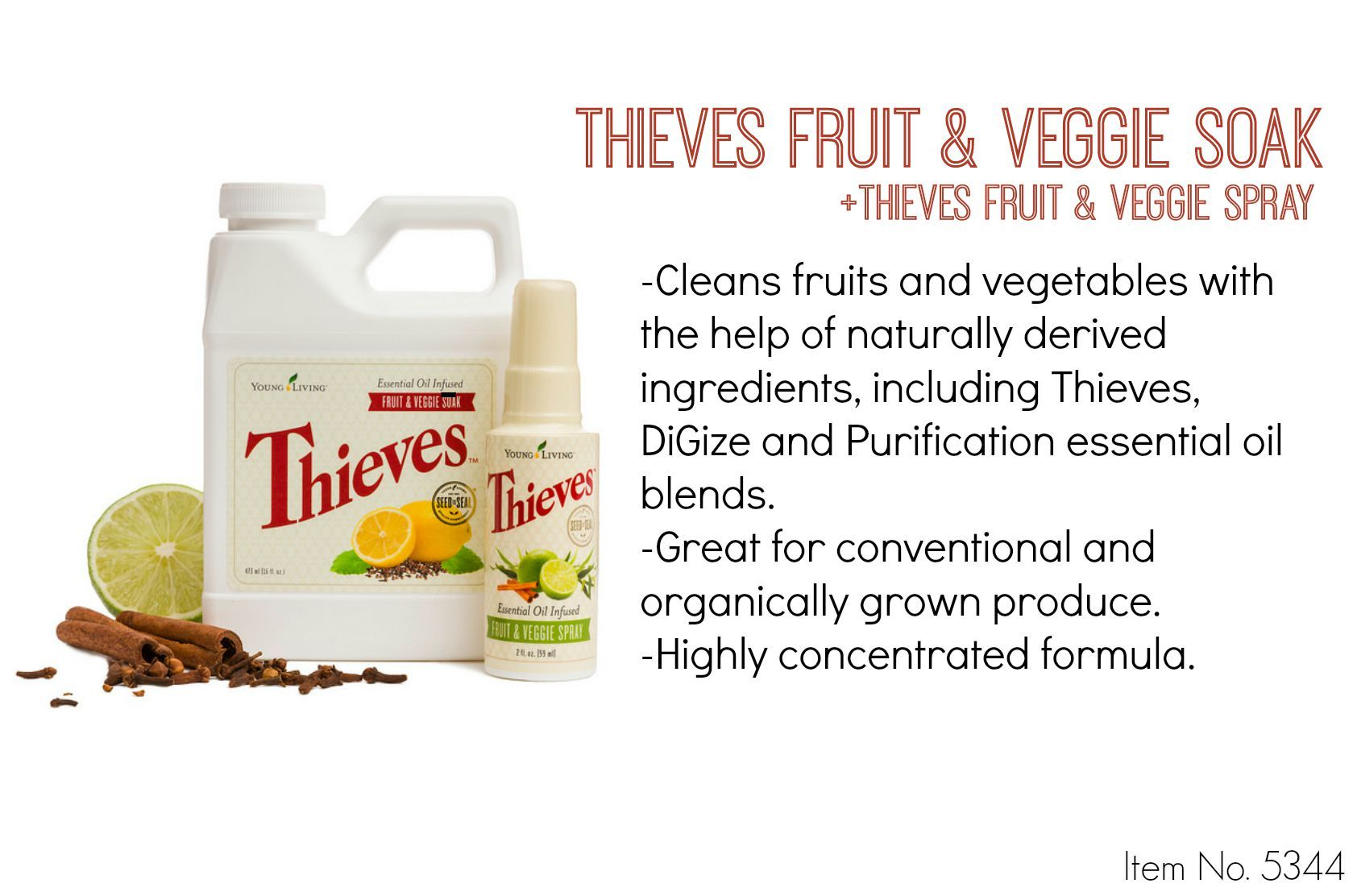 Thieves Fruit and Veggie Soak + Spray! This stuff is a must-have in ...