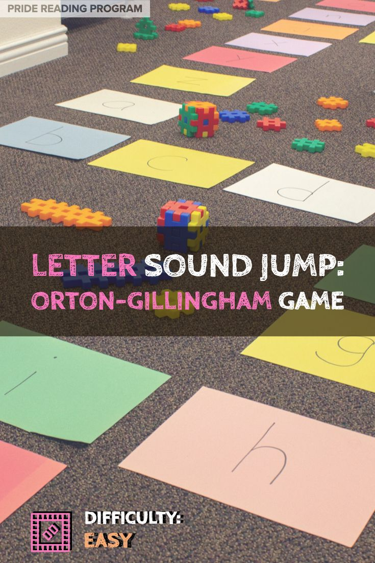 Letter Sound Jump An OrtonGillingham Game Kindergarten