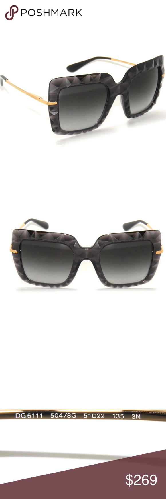 dfd2e92ae75b DOLCE   GABBANA 6111 AUTHENTIC NEW! DG 6111 Color 504 8G 51-22-135 Made in  Italy Comes with original D G Case