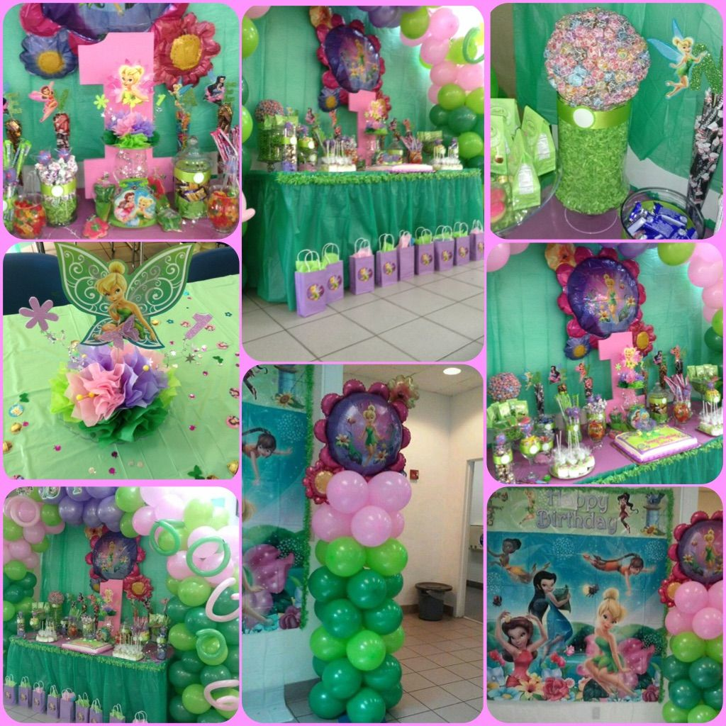 Tinkerbell themed birthday party Tinkerbell Birthday Pinterest