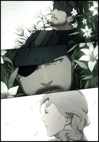 Big Boss Eyepatch Shinbahamut Peace Walkerby Gobeur Metal Gear Solid Metal Gear Snake Metal Gear