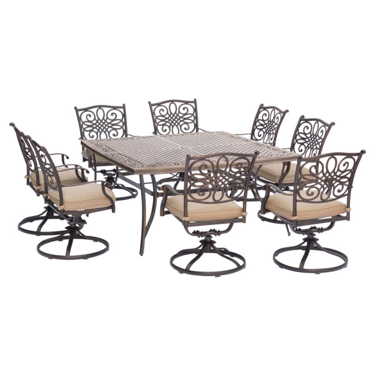 Carolina Factory Direct Springfield Aluminum 9 Piece Square Outdoor
