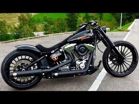 Harley Davidson Breakout CVO Rims in Black - YouTube