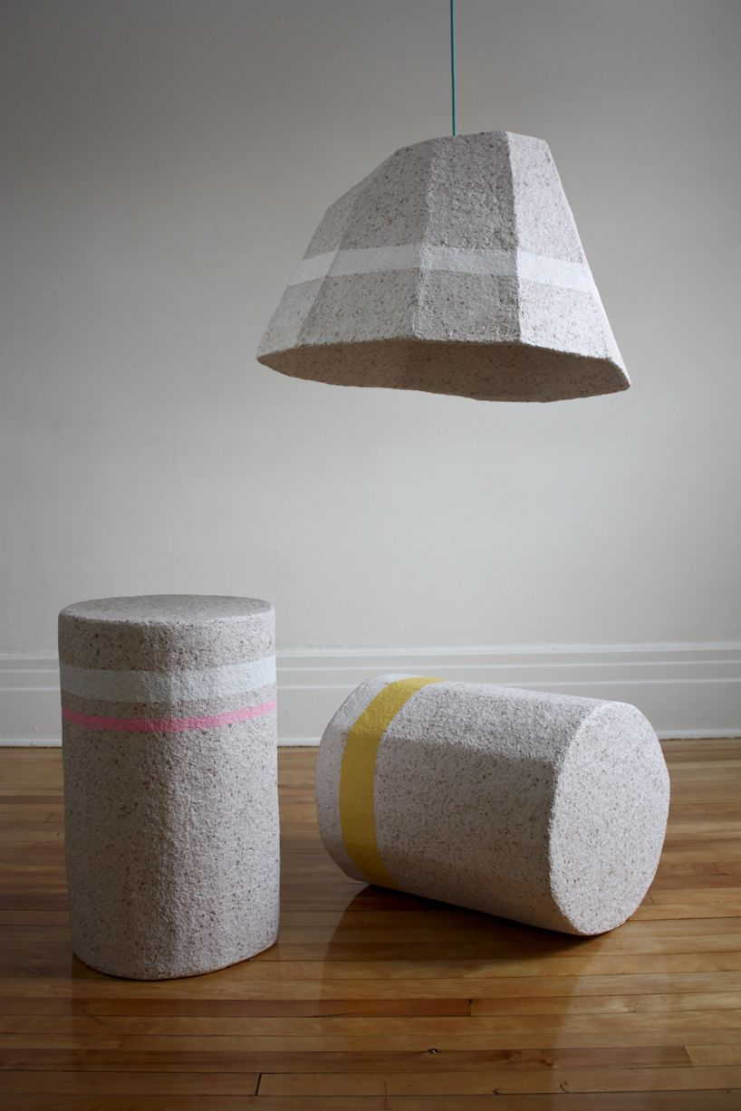 dear human explores different uses for recycled paper-made objects ... for Recycled Paper Lamp  157uhy