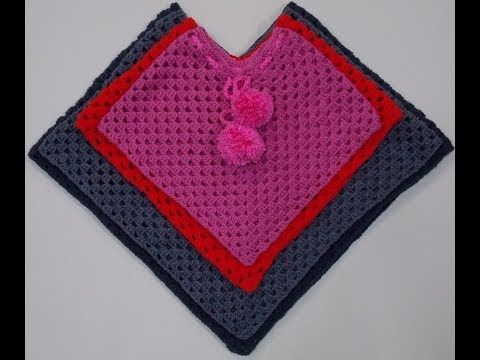 Child Poncho Crochet Tutorial Youtube Has Videos For All Sizes