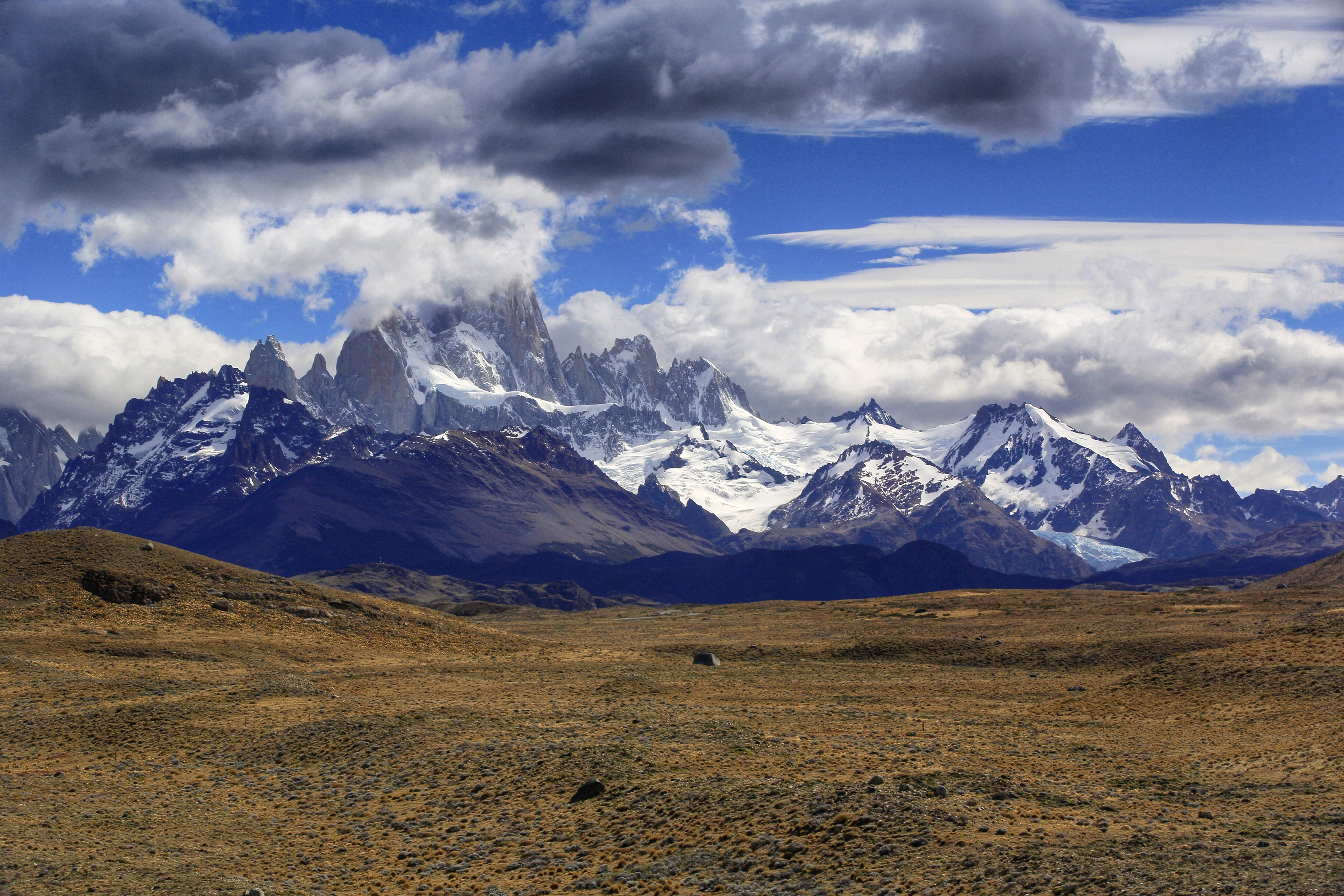 Mt. Fitzroy and the Andes range, Patagonia, Argentina.