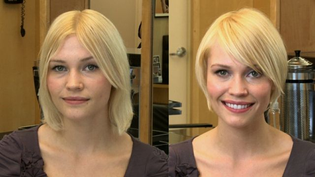 Bob Frisuren Eckiges Gesicht Ideen Blonde Haarfarbe Frisuren