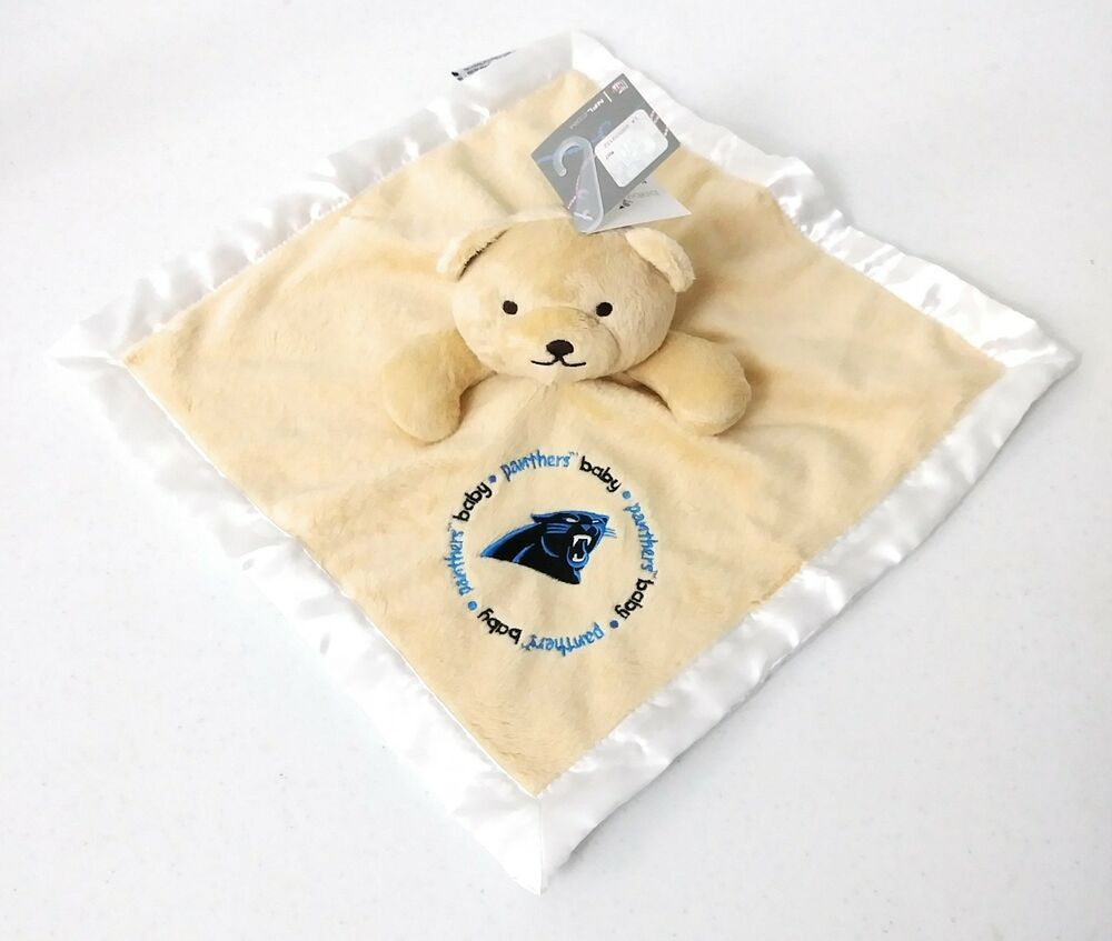 pretty nice 99f55 62cca Carolina Panthers Baby Security Bear Blanket NFL Officially ...