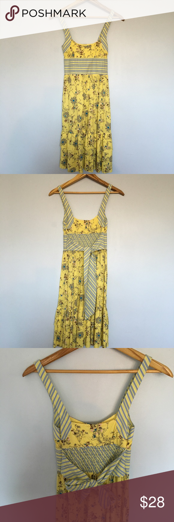 Free people yellow and blue sundress blue sundress unique dresses