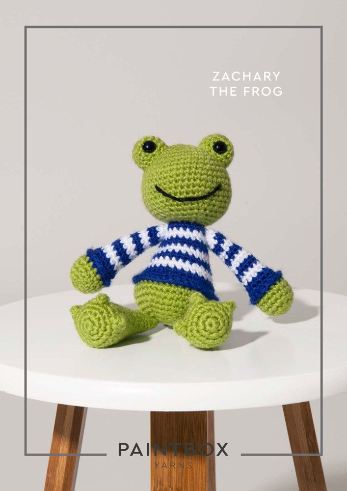 Zachary the Frog in Paintbox Yarns Simply DK - DK-Cro-Toy-011 ...