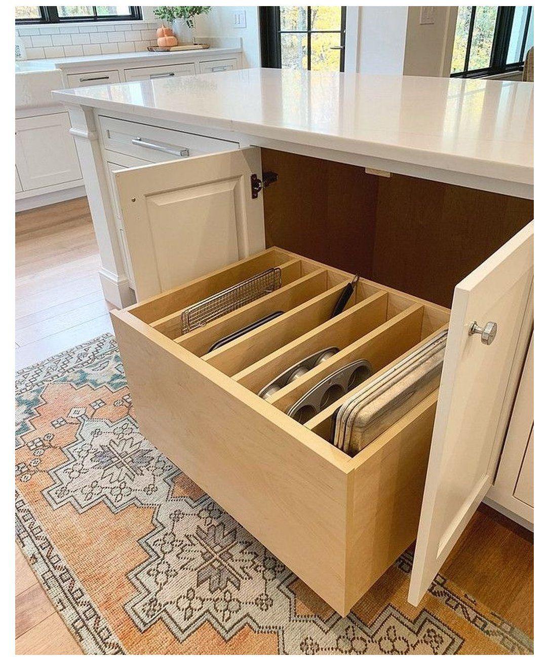30 Awesome Small Kitchen Storage Ideas - Image 11 of 30 #kitchenstorage