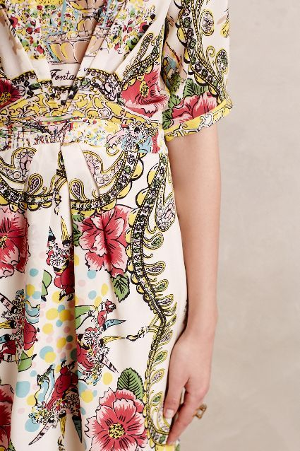 Scenic Silk Dress - anthropologie.com