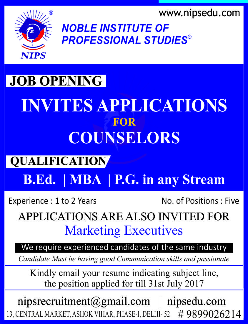 Urgently required counselor for educational institute based in ashok urgently required counselor for educational institute based in ashok vihar delhi stopboris Image collections
