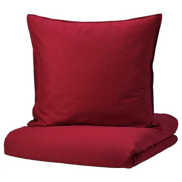 Angslilja Bettwascheset 2 Teilig Rot Ikea Housse De Couette Couette Housses