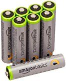Amazonbasics Aaa High Capacity Rechargeable Batteries 8 Pack Pre Charged Packaging May Vary Rechargeable Batteries Recharge Batteries
