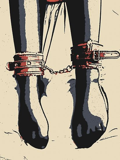 Stockings, Cuffs, Feet fetish, slave girl, Bondage BDSM by casemiroarts