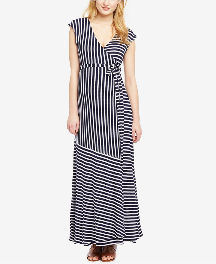 09f124acffd Jessica Simpson Maternity Striped Maxi Dress