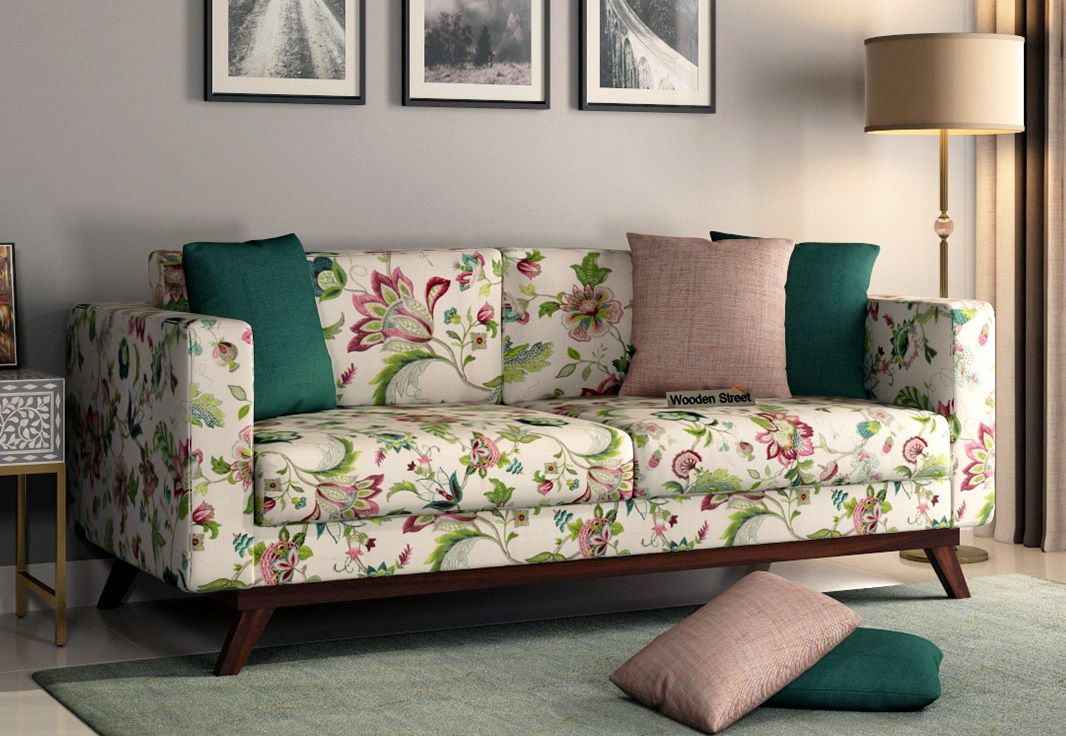 Buy Casper 3 Seater Sofa Cotton Rose Vineyard Online In India Wooden Street In 2020 Seater Sofa Sofa Cotton Sofa