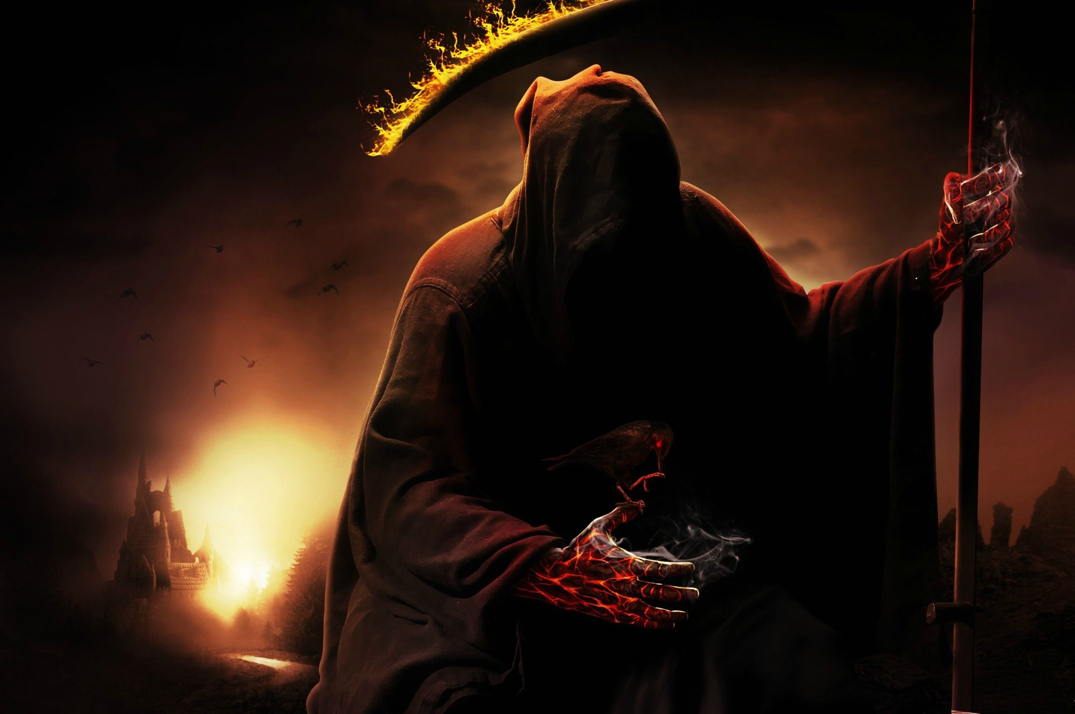 Grim Reaper Wallpaper Hd Grim Reaper Grim Reaper Art Angel Of