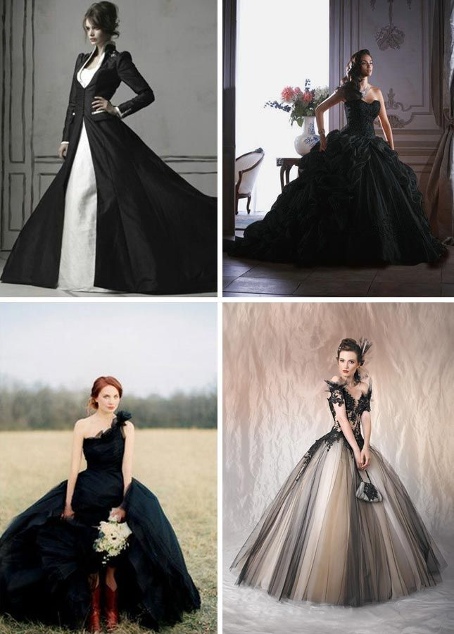 Elegant Halloween Wedding Dress