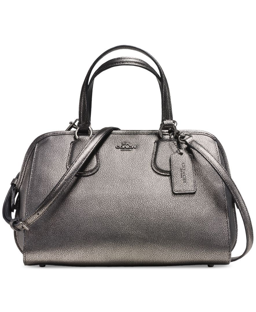 d0f0808f0a8f Coach Nolita Satchel In Metallic Pebble Leather. Coach Nolita Satchel In  Metallic Pebble Leather Mini Handbags ...