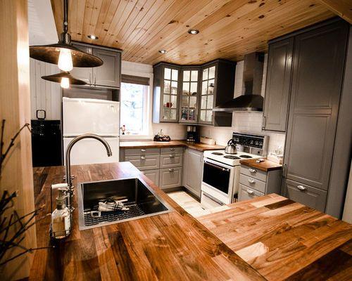 Inspiration pour une petite cuisine ouverte en L avec un évier 1 bac
