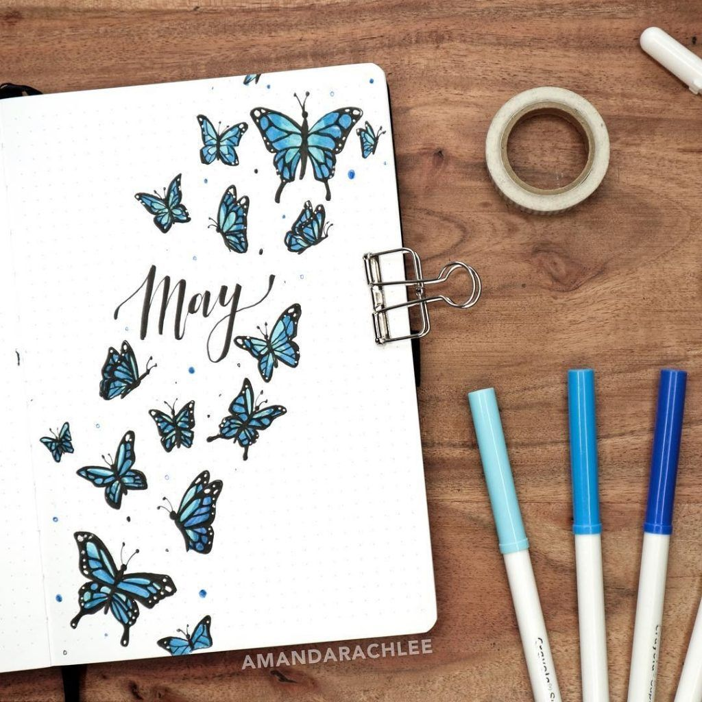Photo of BUJO front page IG Amanda Rach Lee- Get the best ideas about …