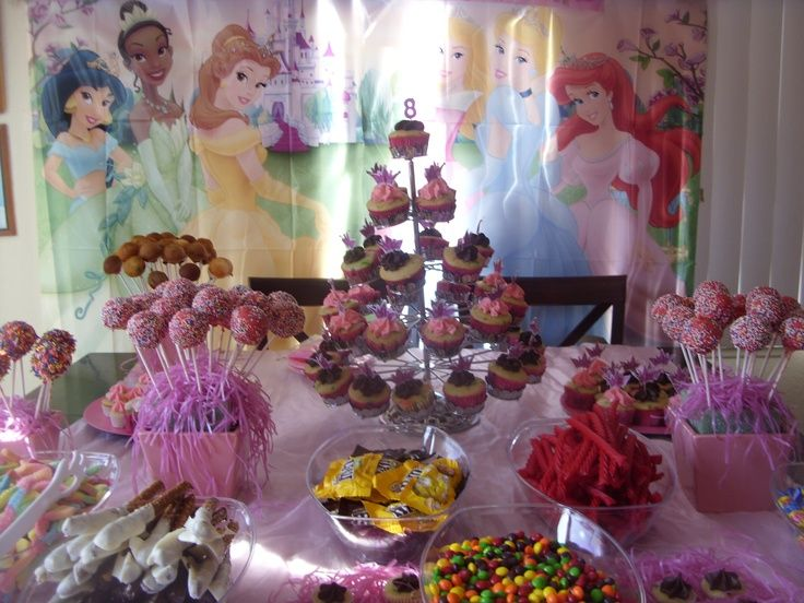 birthday party ideas disney princess candy buffet ideas google search