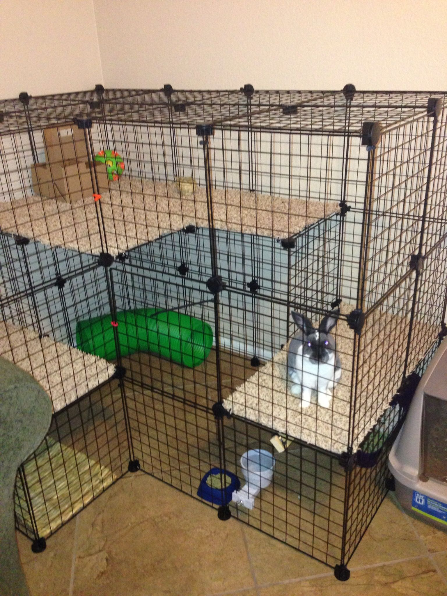 Bunny condo that i made total cost was about 75 caitlin lawless we can add another section - How to make a rabbit cage ...