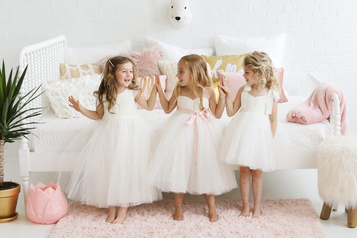 Fattiepie dresses designer of modern classic flower girl dresses