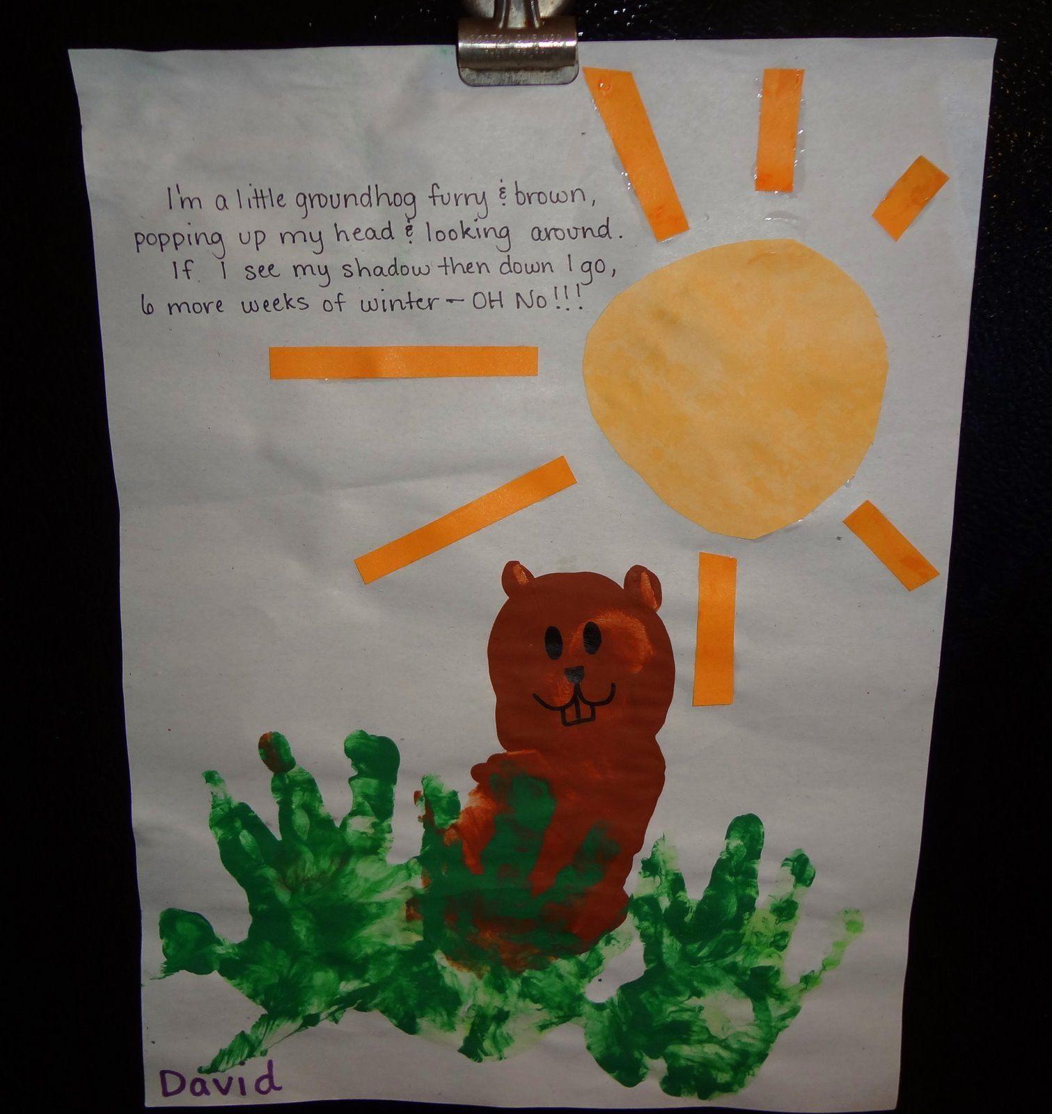 Groundhog art for preschool