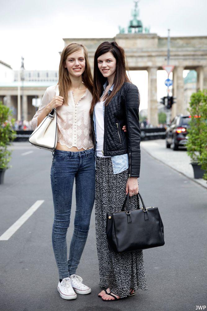 AntoniaWesseloh & EstherHeesch offduty in Berlin.